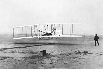 A hundred years after the Wright brothers' flight